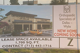 Coming Soon!!! Orthopaedic Specialists of Dallas new location in Wylie.